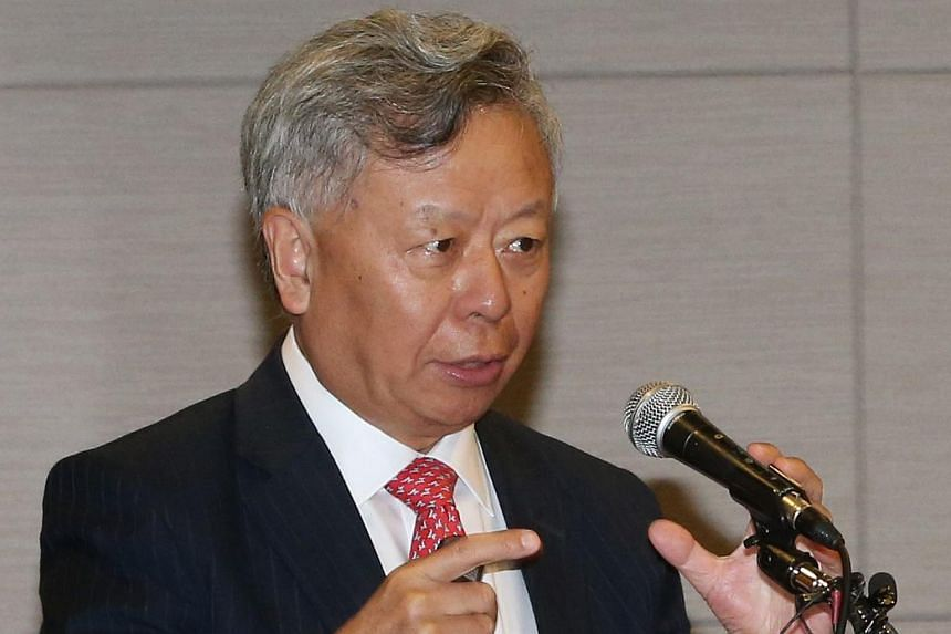 Mr Jin Liqun, the first president-designate of the China initiated AIIB, speaks during a meeting of South Korean businesspeople at the Korea Chamber of Commerce and Industry in Seoul, Korea on Sept 9, 2015.