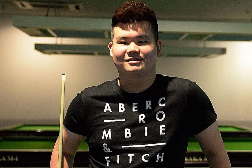 Aloysius Yapp is one of three Singaporeans competing at the World Nine-ball Championship in Doha, Qatar this week. He is ranked 43rd in the world but will be unseeded for the elite tournament that begins on Saturday.
