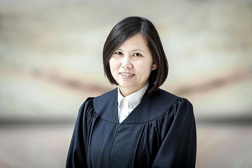 Judicial Commissioner Hoo Sheau Peng has become the first female judge to preside over criminal cases at the High Court (far left).
