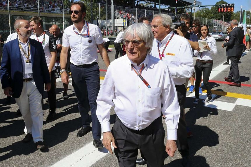 Formula One boss Mr Bernie Ecclestone is seen in grid prior the 2015 Formula One Grand Prix of Italy at the Formula One circuit in Monza, Italy on Sept 6,  2015.