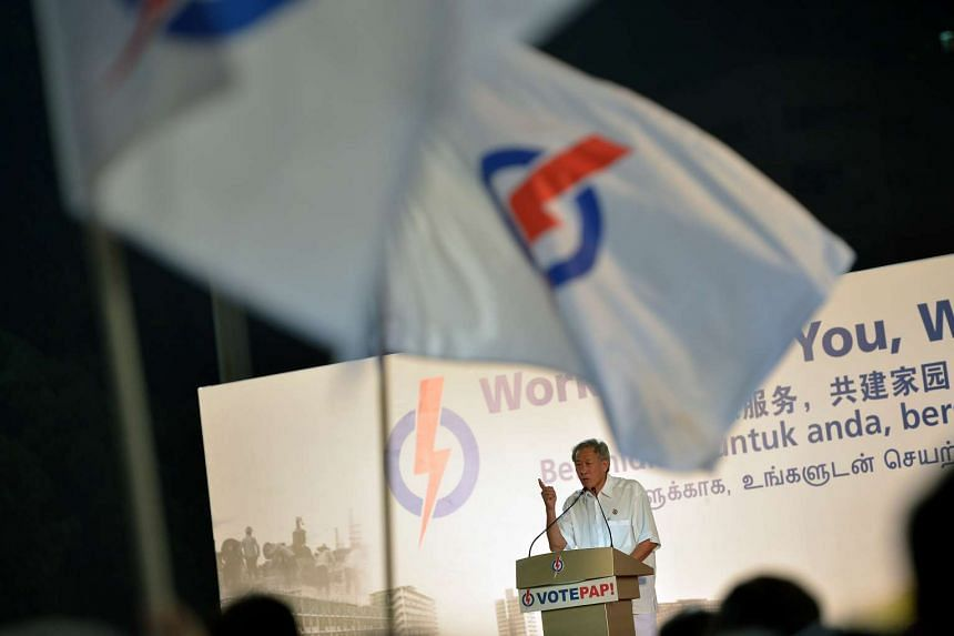Mr Ng Eng Hen speaks at the PAP rally (Bishan-Toa Payoh GRC) on Sept 8, 2015 held at the Toa Payoh Stadium.