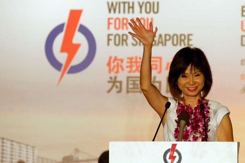 Dr Amy Khor PAP candidate for Mountbatten SMC during the PAP rally at the former Hong Kah Primary School on Sept 8, 2015.