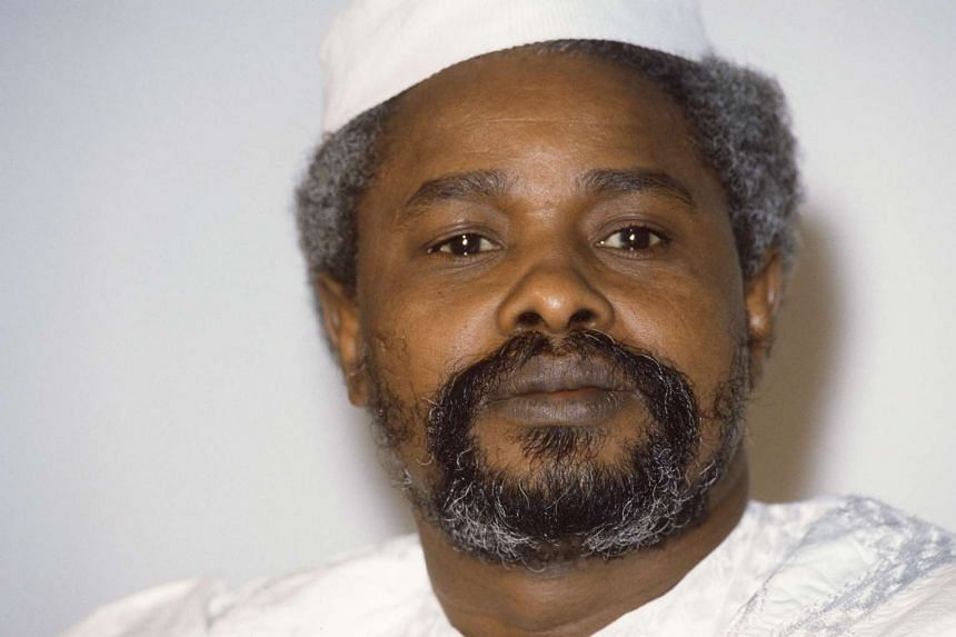 Chad's then president Hissene Habre looking on in N'Djamena in a picture taken in 1987.