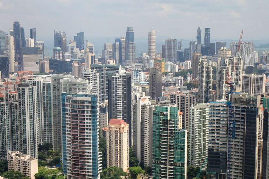 Resale prices of private non-landed properties rose 0.2 per cent last month, but are still down about 1.7 per cent from a year back, says SRX Property. Resale volumes fell about 16.8 per cent last month from July, but they are 15.9 per cent stronger