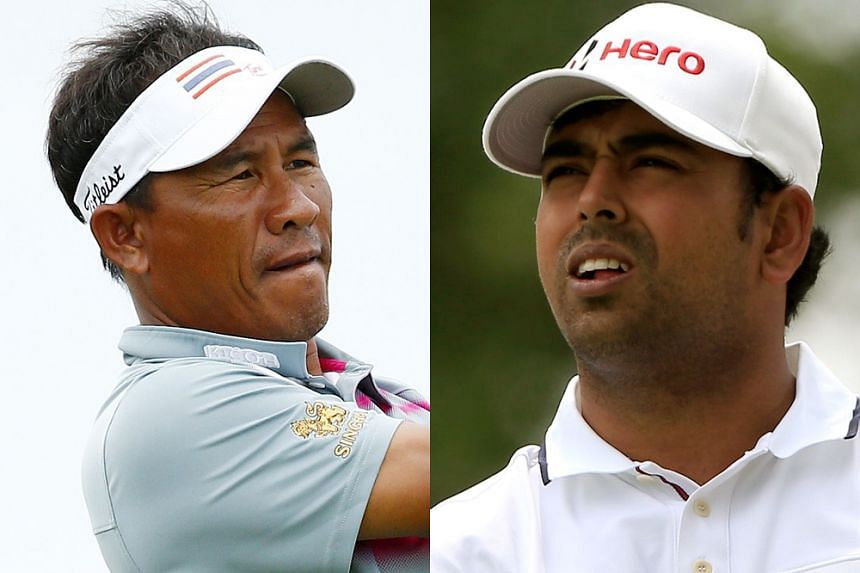 Thai great Thongchai Jaidee (left) and India's Anirban Lahiri will make historic appearances at the Presidents Cup in South Korea next month.