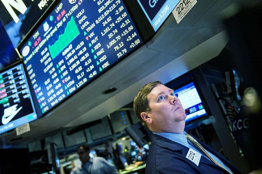 A trader works on the floor of the New York Stock Exchange on Sept 8, 2015 in New York City.