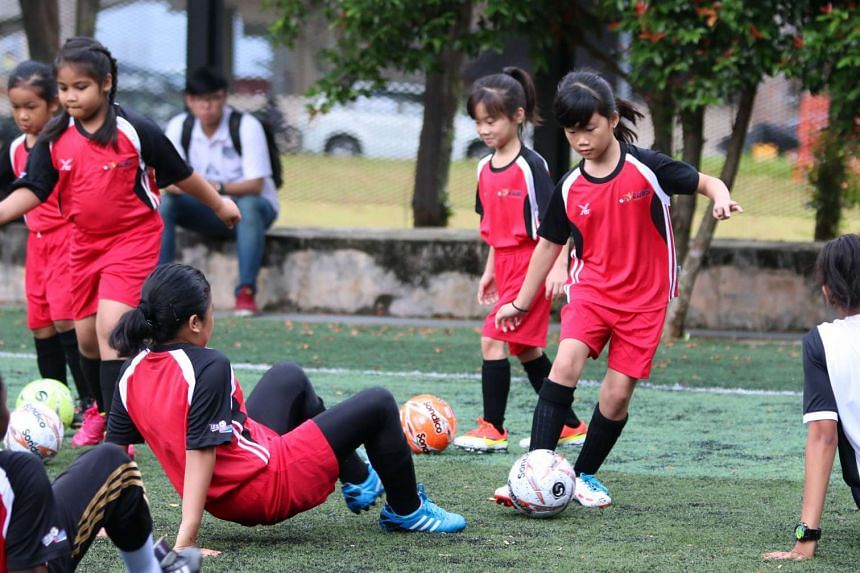 More than 40 girls took part in FAS' first all-girls training centre at Queensway Secondary on April 19.