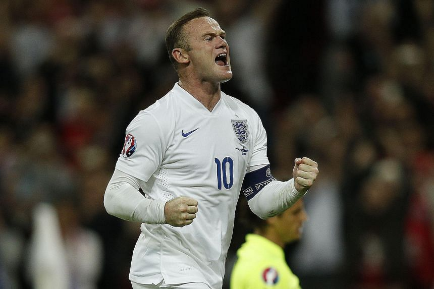 England captain Wayne Rooney after scoring a penalty against Switzerland in Tuesday's 2-0 win in a Euro 2016 qualifier at Wembley. Rooney's goal broke Bobby Charlton's England record that had stood for 45 years.