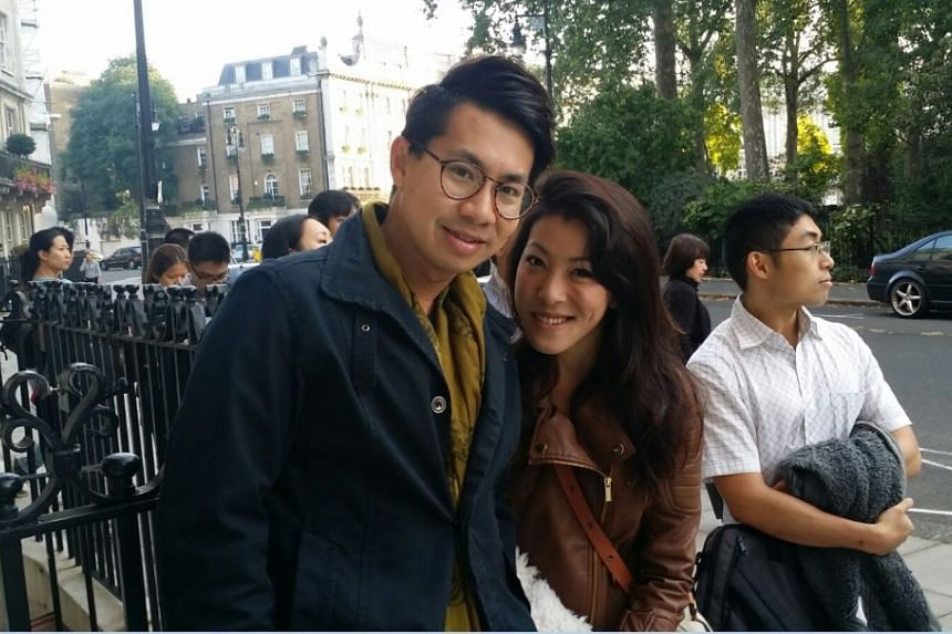 First in the queue were Mr Samuel Chang, a 31-year-old public servant, and his wife Gerlynn Ho, 27, a housewife. Both were voting overseas for the first time. They arrived at the High Commission at 7.30am.
