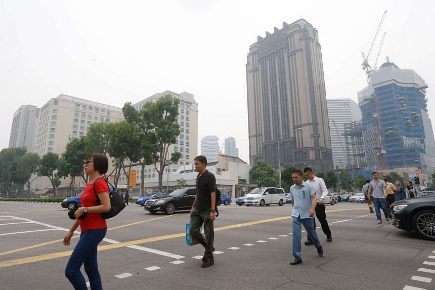 The haze situation, at the junction between Victoria and Rochor Road at 11am on Sept 10, 2015, at 11am.