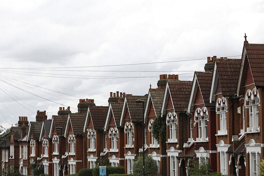 Chimney pots line the rooftops of houses in the Herne Hill district of London, where house prices are continuing to rise.
