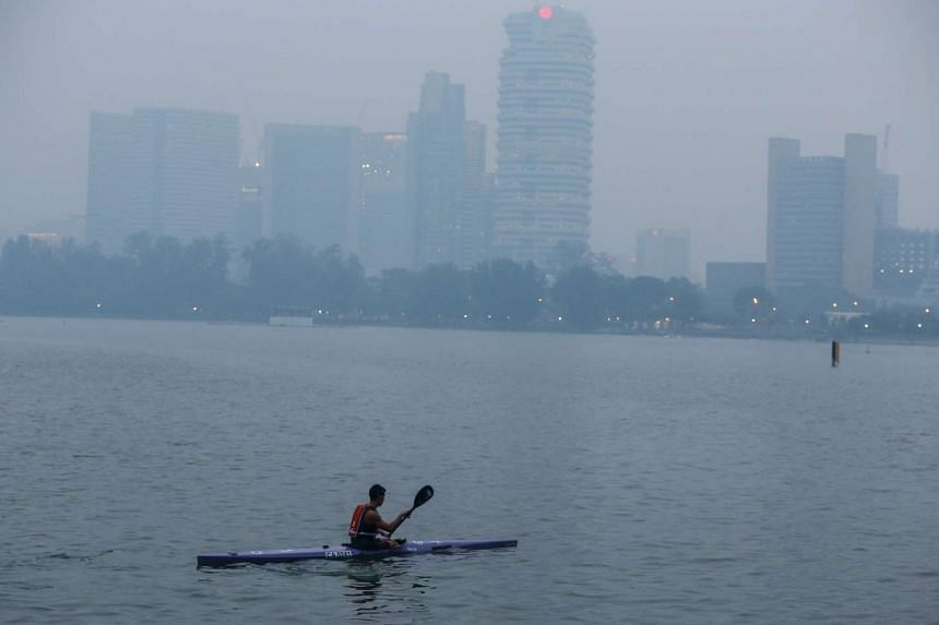 The view from Kallang river at around 7 pm on Sept 10, 2015.