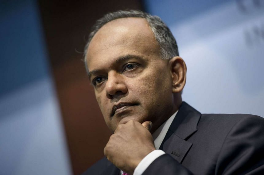 Singapore's Law and Foreign Minister K. Shanmugam.