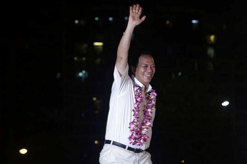 PAP's Punggol East candidate Charles Chong at a rally on Sept 3.