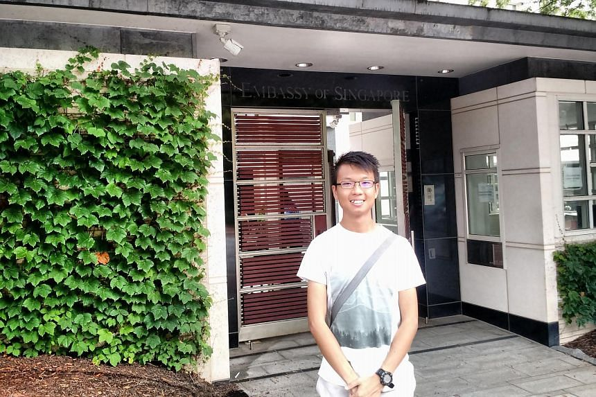 Mr Goh Tiong Ann, 22, was among the Singaporeans who turned up at the embassy in Washington DC to vote on Thursday (Sept 10).
