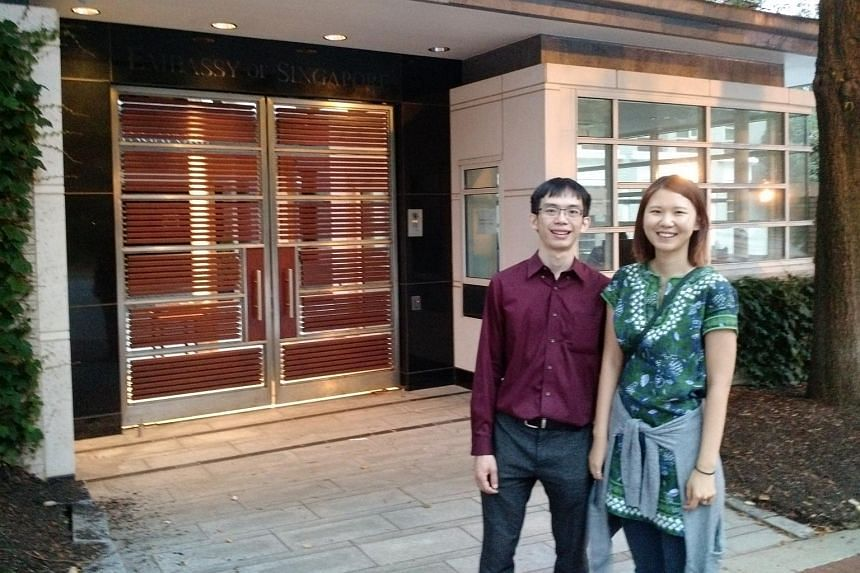 Mr Lai Zhenyu, 31, who works in e-commerce, and his wife, Ms Yuan Yin, 28, who is doing her doctorate in English at Boston College, were among the last few voters at the Singapore Embassy in Washington on Thursday (Sept 10).