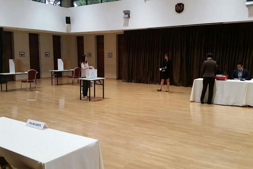 Voting is under way at the Singapore Embassy in Beijing.