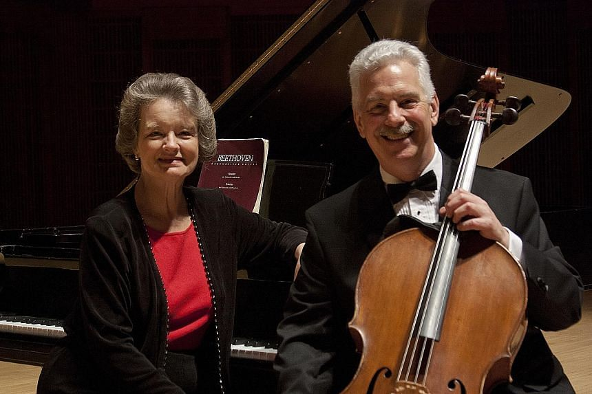 Cellist Norman Fischer has been performing with his pianist wife Jeanne for the past 43 years.