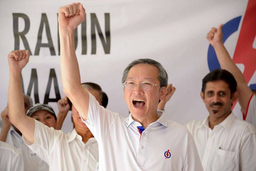PAP candidate Sam Tan at the Bendemeer Primary School Nomination Centre on Sept 1, 2015.