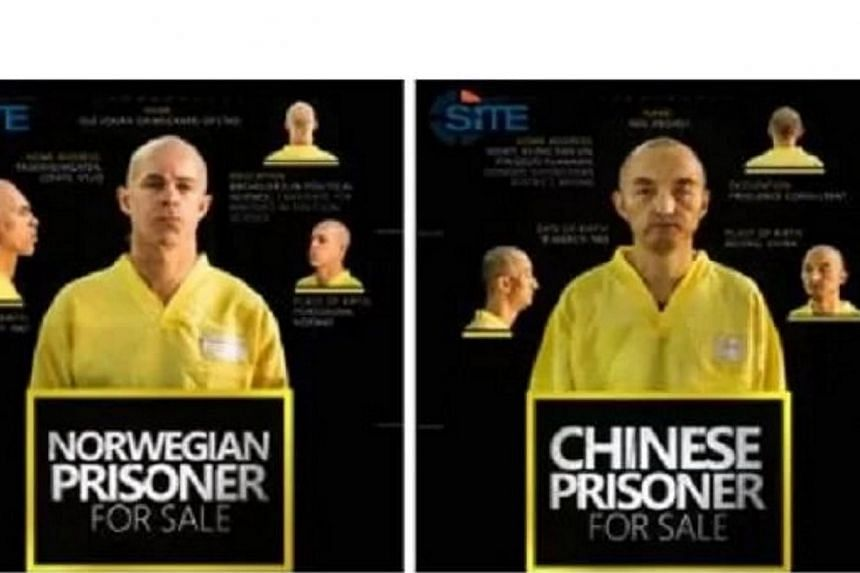 The ISIS group claimed on Wednesday (Sept 9) to be holding a Chinese and a Norwegian hostage and asked for an unspecified ransom for their release.