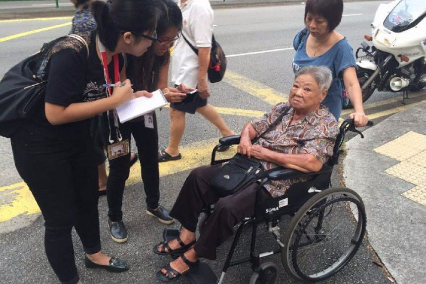 """Madam Wong Siew Chin, 86, arrived at 7.55am with her daughter, administrator Jenny Chin, 53. Asked why she came so early, Madam Wong said in Mandarin """"I want to play mahjong later. I arranged to meet my friends at 10am."""""""
