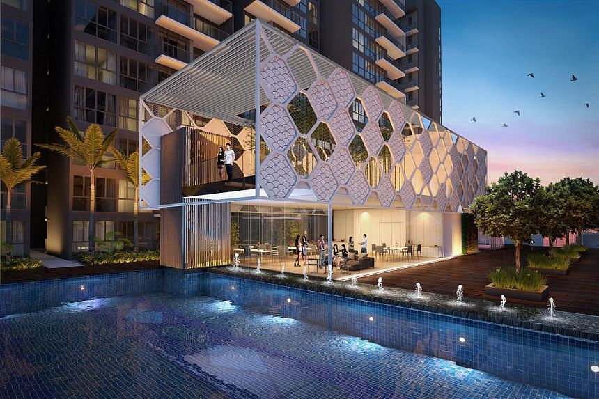 An artist's impression of Signature at Yishun, which sits between Yishun Street 51 and Yishun Avenue 1 and is bounded by Lower Seletar Reservoir and the Orchid Country Club.