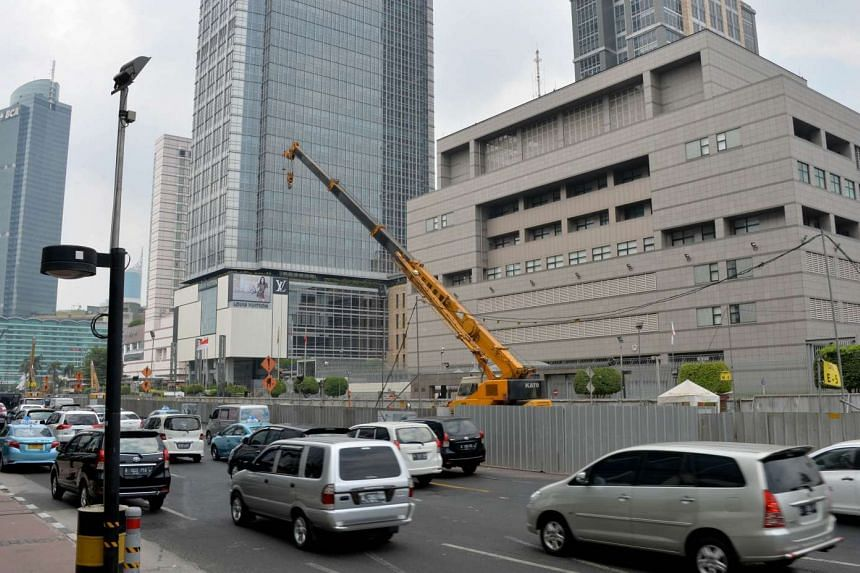 Japan has ordered beefed-up security at its embassies worldwide, including the one in Jakarta (above).