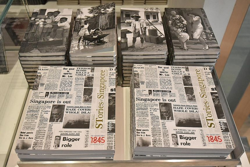 More than 500 copies of Front Page: STories Of Singapore Since 1845 have been sold since the opening of The Straits Times' Singapore STories: Then. Now. Tomorrow exhibition, which will run till Oct 4.