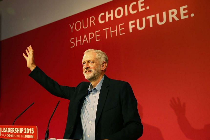 The new leader of Britain's opposition Labour Party Jeremy Corbyn makes his inaugural speech at the Queen Elizabeth Centre in central London, on Sept 12, 2015.