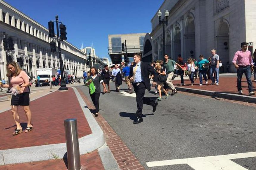 A photo posted to Twitter of the incident at the main train station in Washington.