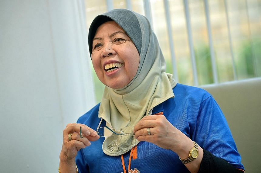 Madam Maimon Osman, who has been rehired by Challenger on the same pay, has trained more than 100 cashiers.