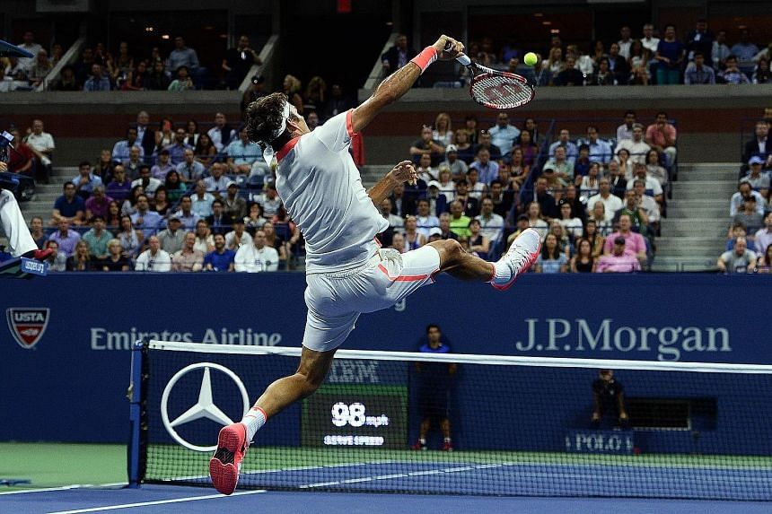 Stan Wawrinka says fellow Swiss Roger Federer (above, during their US Open semi-final) is playing some of his best tennis.