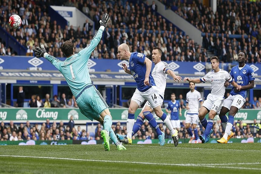 Steven Naismith, scoring Everton's first goal, went on to poach two more as Chelsea proved sluggish and ineffective once again.