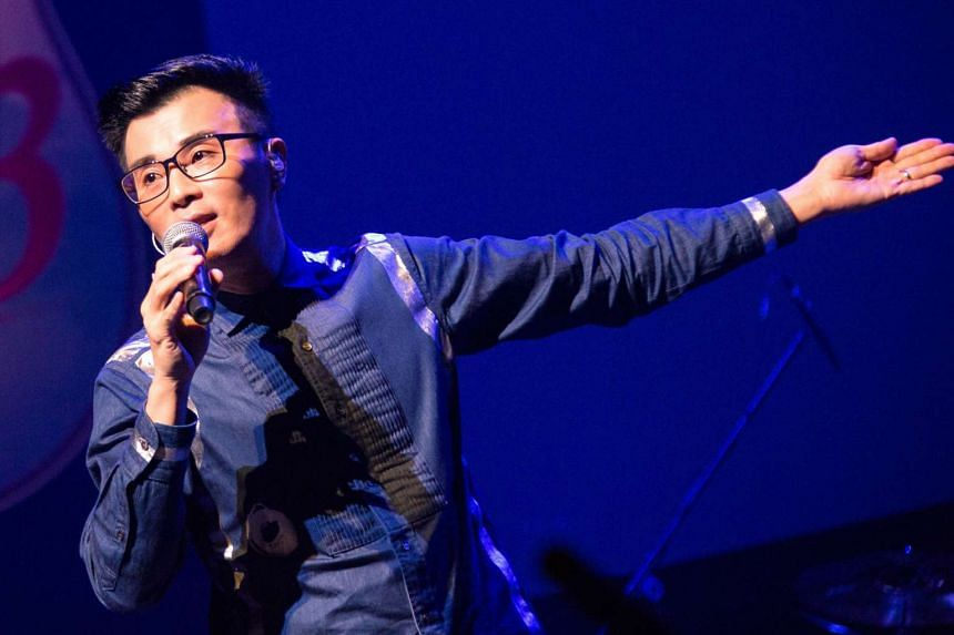 Local singer-songwriter Jimmy Ye during a performance.