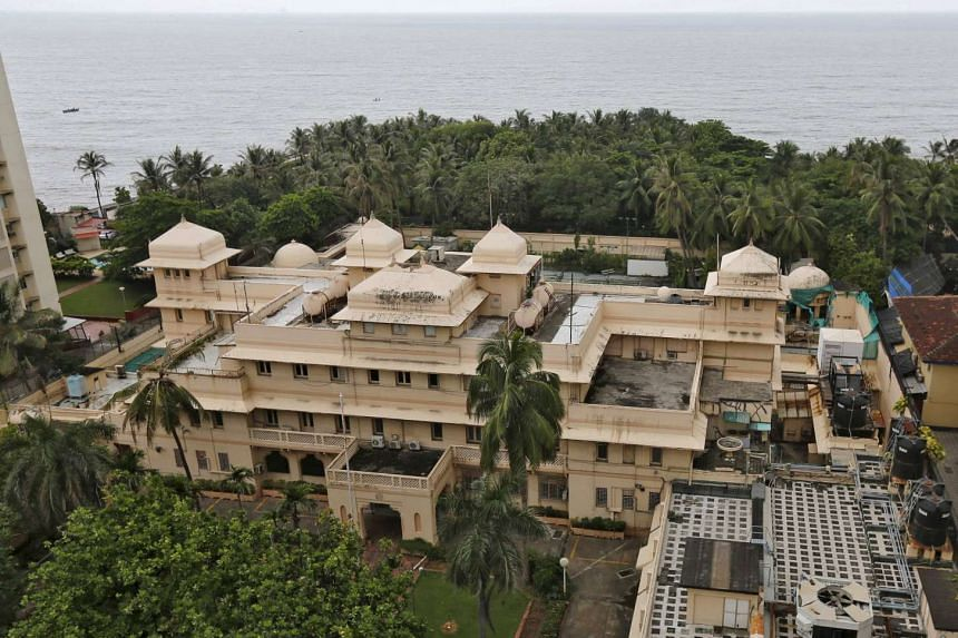 A view of the seaside mansion, which was used as the US consulate from 1957, and later renamed Lincoln House, is seen in Mumbai, India, on Sept 14, 2015.