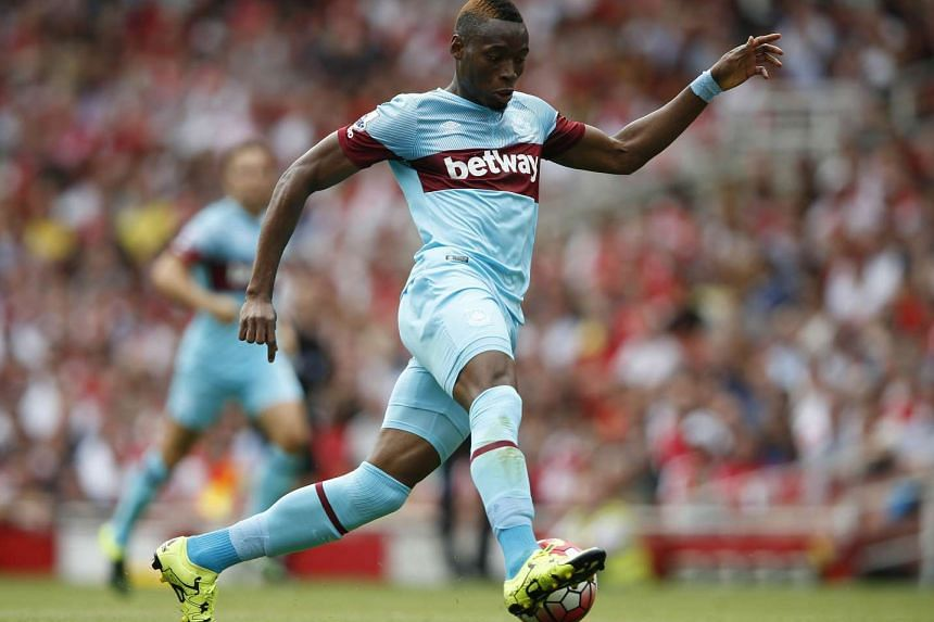 A file picture taken in London on Aug 9, 2015, shows West Ham United's Senegalese striker Diafra Sakho during an English Premier League football match between Arsenal and West Ham.