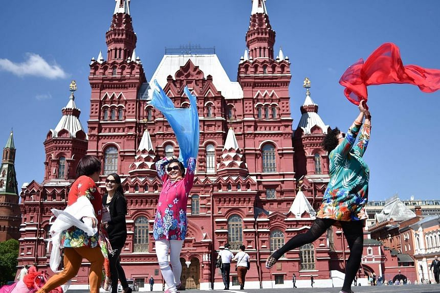 The Chinese are flocking to Russia to soak in the country's revolutionary history. Nearly 410,000 Chinese went to Russia last year, making them the top foreign visitors.