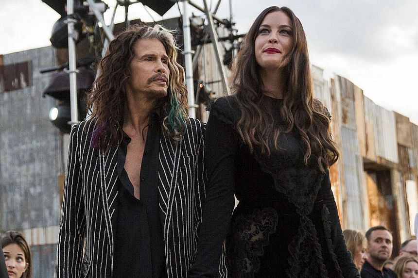 Celebrity attendees included rocker Steven Tyler and his actress daughter Liv Tyler.
