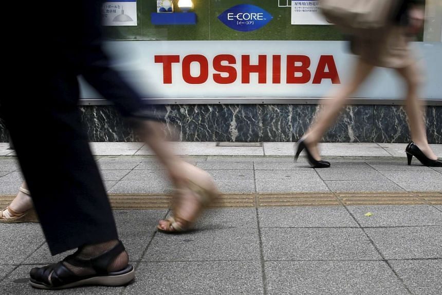 Toshiba Corp. posted a net loss for the first quarter of 12.3 billion yen (S$143.8 million) for the three months ended June.