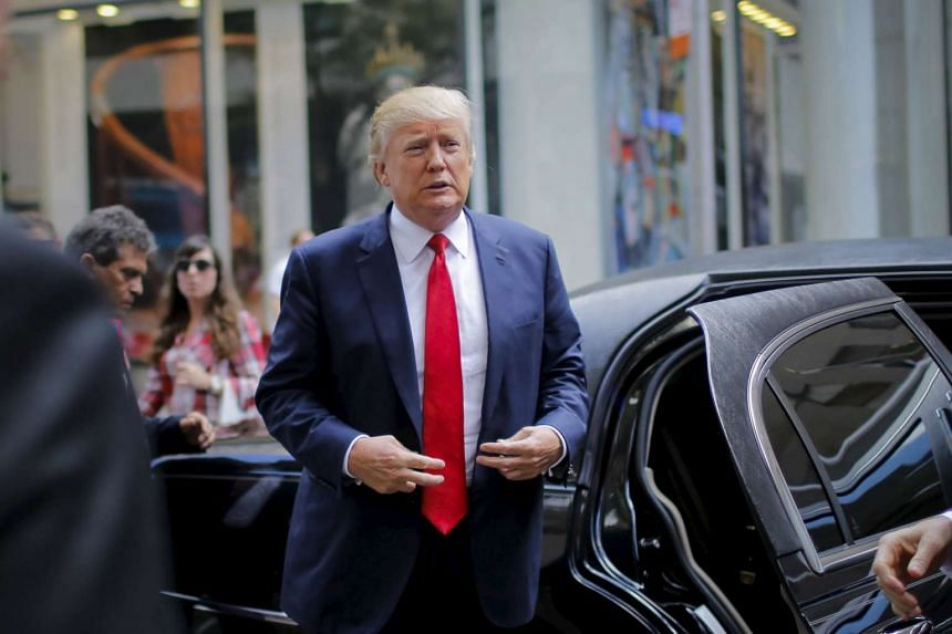 Republican presidential candidate Donald Trump arrives to attend the Jimmy Fallon show in Manhattan last week.
