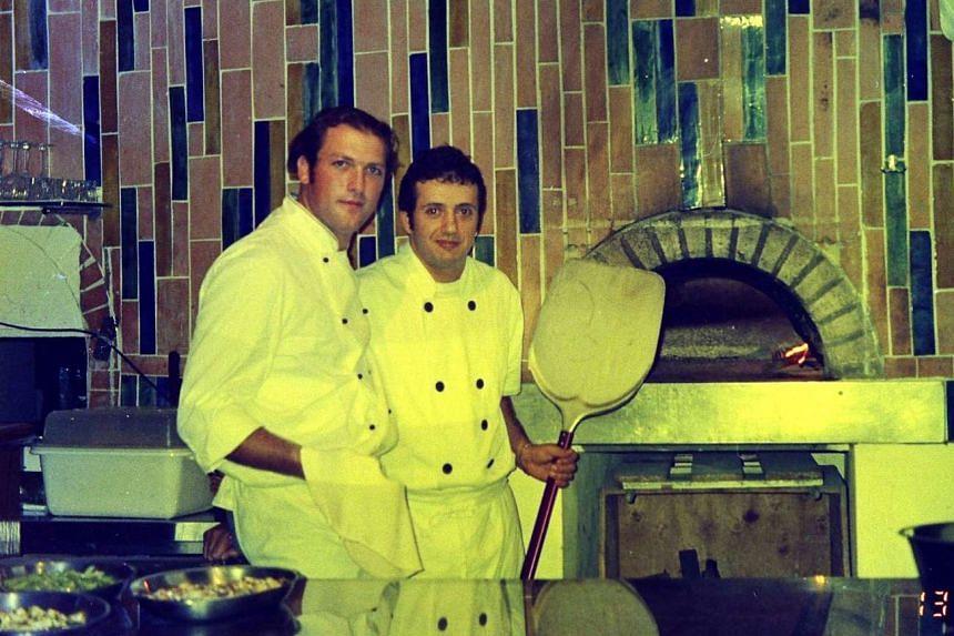 Mr Alessandro Di Prisco (above) and his Al Forno chef Rodolfo Baldino in a picture taken in 2002