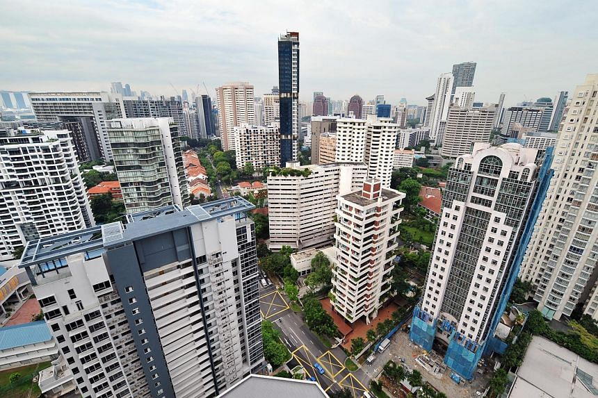 High-rise private apartment condominiums in the Scotts Road and Cairnhill area.