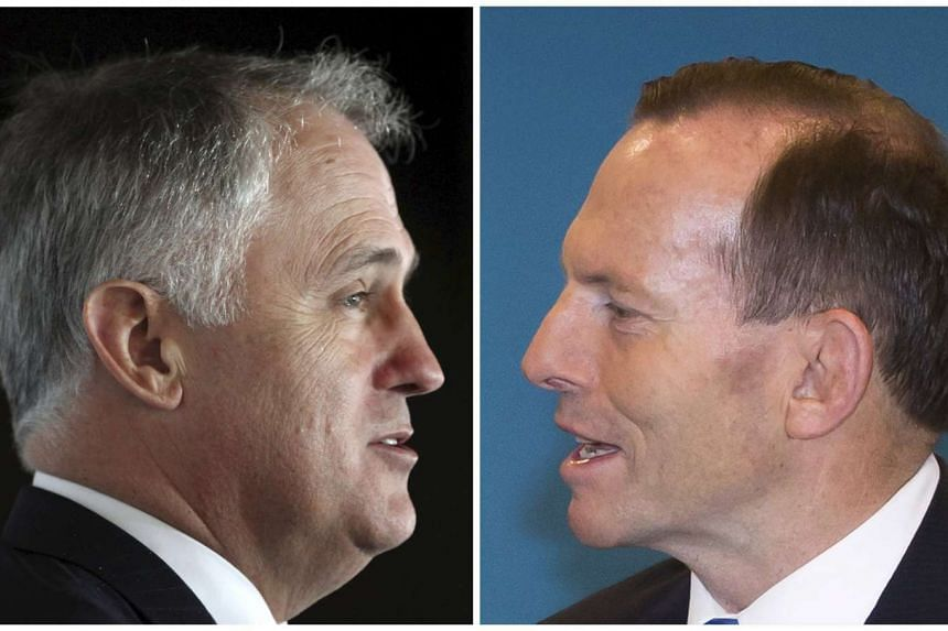 Former banker and businessman Malcolm Turnbull (left) was sworn in as Australia's 29th Prime Minister on Tuesday, a day after defeating longtime rival Tony Abbott (right) as Liberal Party leader in a party room coup.