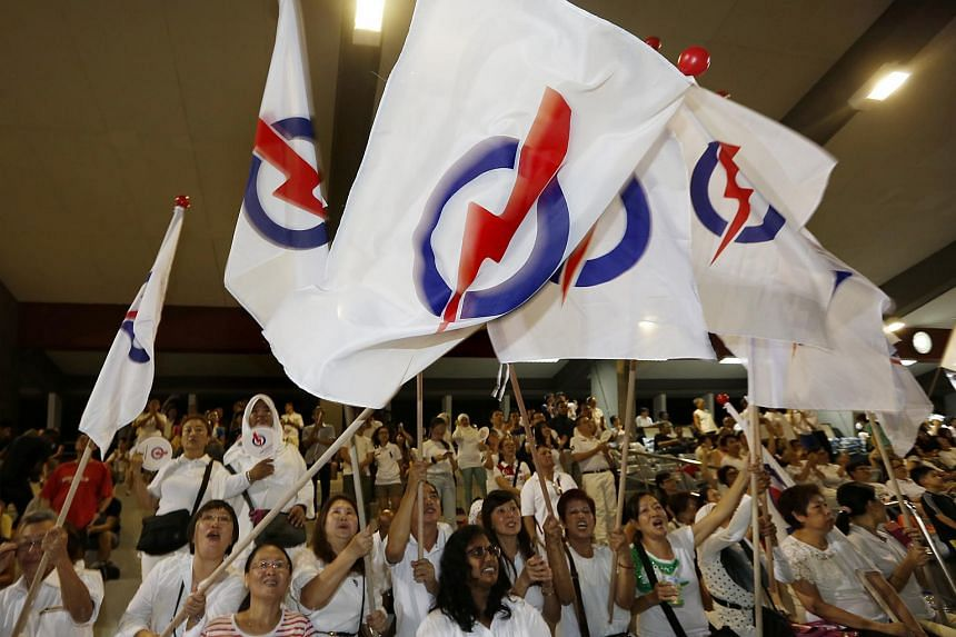 The People's Action Party (PAP) supporters at Toa Payoh Stadium.