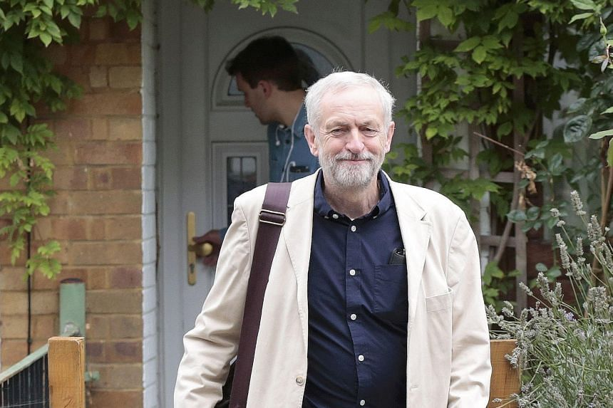 Mr Jeremy Corbyn leaving his home the morning after being elected as the new leader of Britain's opposition Labour Party. He has picked a shadow Cabinet almost as inexperienced and largely as left-wing as himself.