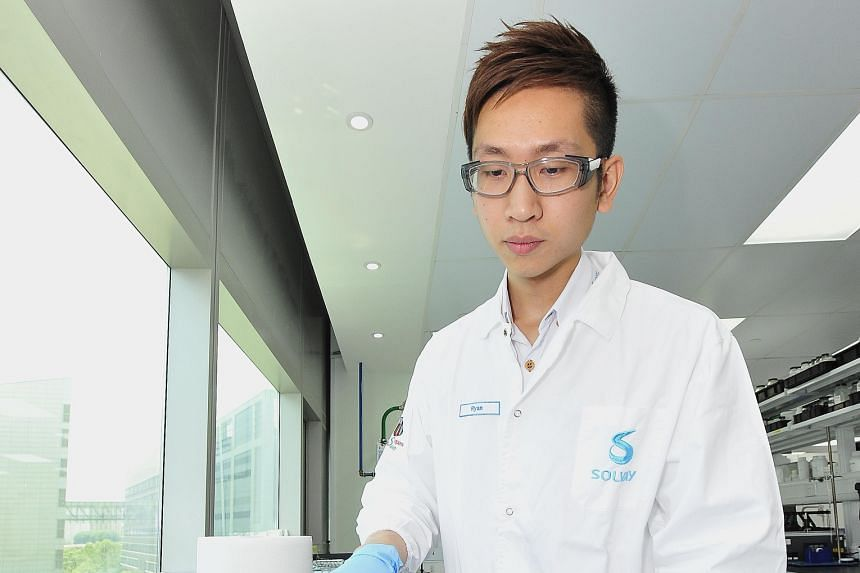 """Research scientist Ryan Lin hopes to use """"green chemistry"""" to improve the environment."""