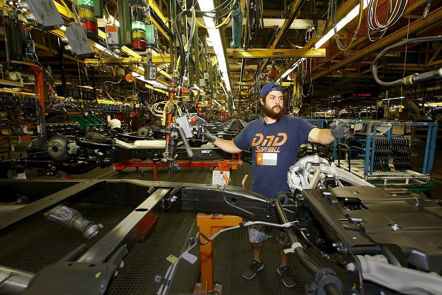 American factories churned out 0.5 per cent fewer goods last month, the Federal Reserve said on Tuesday.
