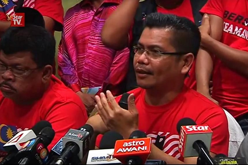 "Datuk Jamal Yunos, a spokesman of a coalition of 250 licensed non-governmental organisations taking part in the ""Red Shirt"" rally on Sept 16, speaking at a press conference on Sept 11, 2015."