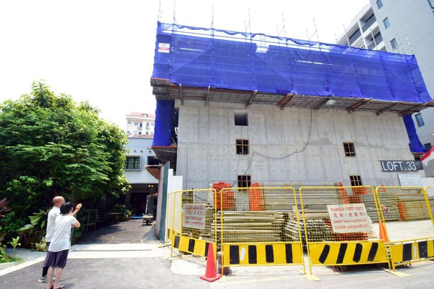 Works have stopped at the condominium and its permit for construction work was revoked by the Building and Construction Authority.