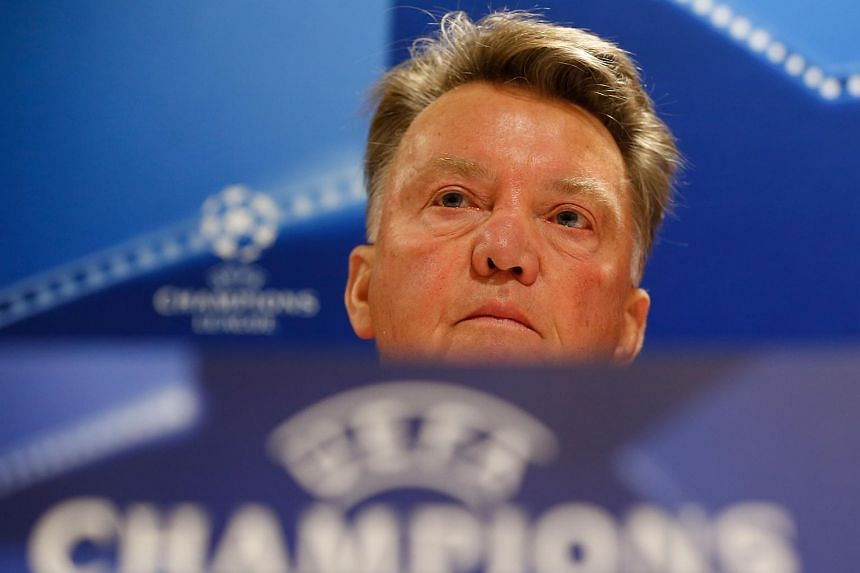 Manchester United manager Louis van Gaal during a press conference in Eindhoven on Sept 14, 2015.